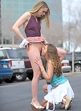 Anna and Amber make out in public